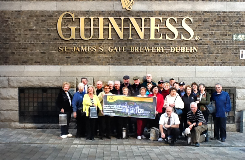 Group at Guiness brewery
